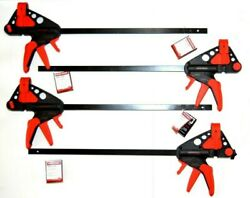 4-pieces 18 Craftsman Bar Clamps / Spreader -one Hand Quick Release Woodworking