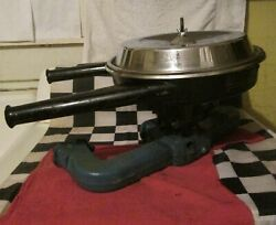 Vintage Chevrolet Dual Snorkel Air Cleaner W/ Used Carb Core And Intake Manifold