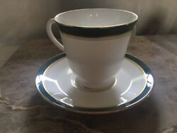 Lot Of 24 Royal Worcester Andldquohoward Leather Greenandrdquo China 12 Cups And 12 Saucers