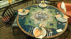 54'' Marble Top Custom Table Mosaic Stone Inlay Decorative Kitchen Arts H3972a