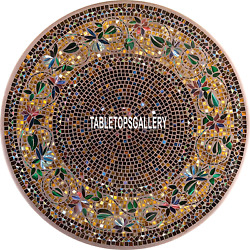 55'' Marble Table Top Dinette Inlay Modern Design Beautiful Arts Decorate H3964c