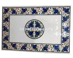 30x42 Lapis Grapes Inlay Art Marble Top Dining Table Interior Decorative W255b