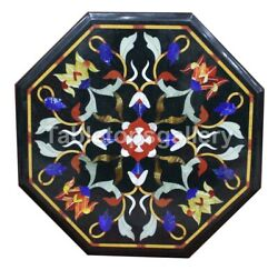 16 Marble Inlay Coffee Table Top Pietra Dure Mosaic Floral Home Art Decor B175a