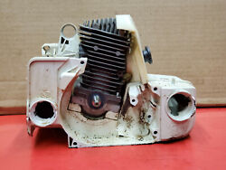 Stihl Ms250 Vintage Chainsaw Engine Assy Good Top End Bad Crank Bearings Ws 441