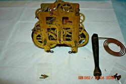 Seth Thomas Mantle Clock Movement With Gong And Bell For Project Or Parts