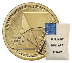 P And D 100 Us Mint Bags 2020 Connecticut American Innovation Dollars Mint 200