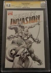 Secret Invasion 2 Cgc 9.8 Ss Signed Stan Lee And Brian Michael Bendis Sketch Ed.