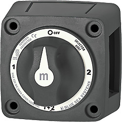Blue Sea Systems 6007200 Battery Switch Mini 4 Position Black