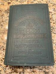 1879 Antique Cookbook Farm Recipes Horse Bees Beer Wine Medical Dyeing Victorian