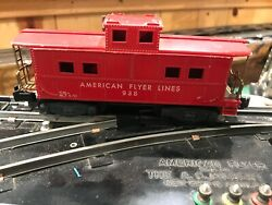 American Flyer S Scale 938 Red Caboose Estate -21-1d