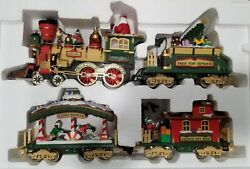 The Holiday Express Animated Train Set 380 New Bright 1997 - G Scale - Complete