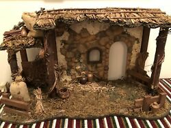 Fitz And Floyd Nativity Stable Stable Only Figs Not Included No Box