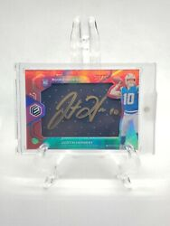 Justin Herbert Rare Gold Signed Elements Rookie Neon Signs Rpa /25 Ssp Roy