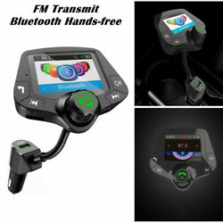 Car Hands-free Fm Transmitter Bluetooth Mp3 Radio Adapter Car Kit Usb Charger