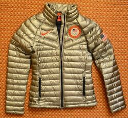 Team Usa Women's Olympic Games Silver Jacket By Nike, Size Small