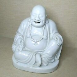 Vintage Chinese Blanc De Chine Buddha From Porcelain 19th-20th Century.