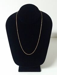 14k Gold Chain Necklace Made In Italy 57ar 18.5 1.3 Grams Not Scrap