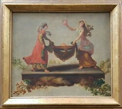 Painting 18th Decorative French Preudhomme Vestal Virgins Justica Neo-classical