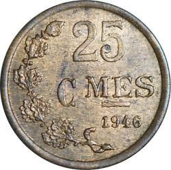 Luxembourg 25 Centimes Coin 1946 Mixed Grades Pick The Coin You Want