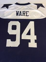 Reebok Nfl Throwback Vintage Collection Dallas Cowboys Ware L Football Jersey