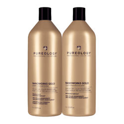 Pureology Nano Works Gold Shampoo And Conditioner Liter Duo 33.8 Oz Each