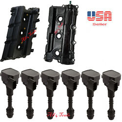 Valve Cover And Gasket 2 Side W 6 Ignition Coil Fitpathfinder 05-12 Xterra 05-15
