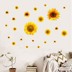 SunFlower Wall Stickers Tiles Removable Self Adhesive Home Art Mural Decor