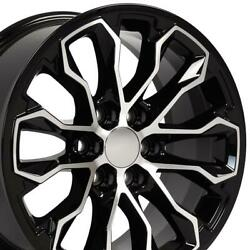 5891 Black Machined 17x8 Wheel Set Fits Chevrolet Colorado Zr2 And Gmc Canyon