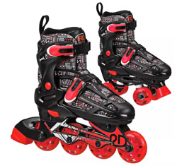 Roller Derby Youth Adjustable Inline-quad Combo Skates Size 12-2 Open Box