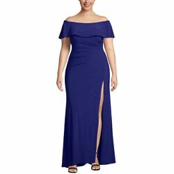 X By Escape New Womenand039s Plus Size Off-the-shoulder Gown Dress Tedo