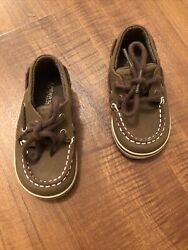 Sperrys Top-sider Intrepid Crib Boat Toddler Shoes 4m Euc