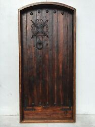 Rustic Reclaimed Lumber Square Door Solid Wood Story Book Castle Winery Hardware