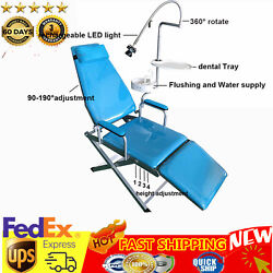 Mobile Dental Portable Folding Chair And Rechargeable Led Light Headrest Equipment