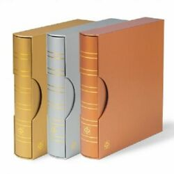 3 Lighthouse Grande Silver/gold/bronze 4 Ring Binder+ Slipcase Banknotes And Coins