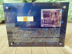 Vintage Rare Intel 8080 First Usable Cpu Exhibition Frame Not Include Cpu