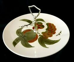 Stangl Pottery Orchard Song China Tray W/ Center Metal Handle Dinnerware Vintage
