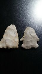 2 Nice Colorful Authentic Kentucky Points - Arrowheads Artifacts-lot 148