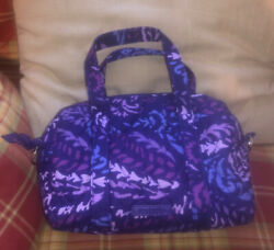 Vera Bradley Small Travel Bag With Matching Id Case And Shoulder Strap