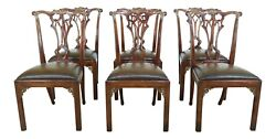 50971ec Set Of 6 Theodore Alexander Althorp Mahogany Dining Chairs