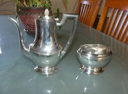 And Co Sterling Silver 2 Pc Coffee/tea Pot And Waste Bowl Pattern 6064