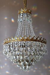 Antique / Vintage Home Lighting French Empire Crystal Chandelier Lamp Light Part