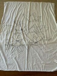 UO White Black Tapestry 48quot;x58quot; New