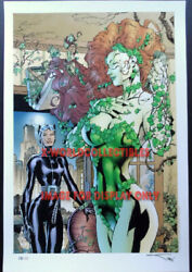 Jim Lee And Alex Sinclair Catwoman And Poison Ivy Sdcc 2013 Ltd Edition Print Xx/30