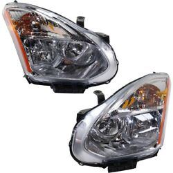 Hid Headlights Lamps Set Of 2 Left-and-right Hid/xenon Lh And Rh For Rogue 13 Pair