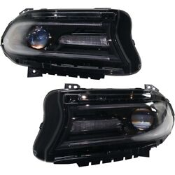 Headlights Lamps Set Of 2 Left-and-right 68214396ad 68214397ad Lh And Rh Pair