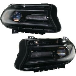 Headlights Lamps Set Of 2 Left-and-right 68214396ad, 68214397ad Lh And Rh Pair