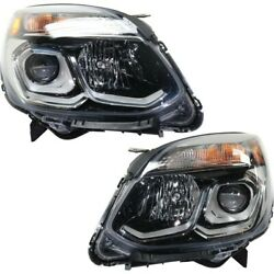 Headlights Lamps Set Of 2 Left-and-right For Chevy 84009752 84009751 Pair