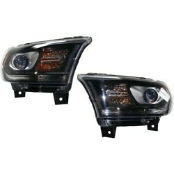 Headlights Lamps Set Of 2 Left-and-right 68184827af, 68184826af Lh And Rh Pair