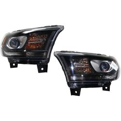 Headlights Lamps Set Of 2 Left-and-right 68184827af 68184826af Lh And Rh Pair