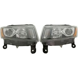 Headlights Lamps Set Of 2 Left-and-right 68236109ae, 68236108ae Lh And Rh Pair